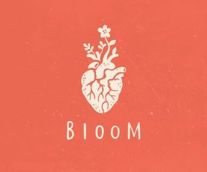 art, bloom, and heart image