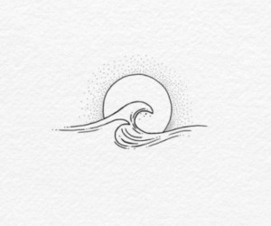 waves, art, and drawing image
