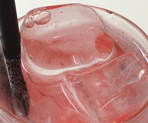 drink, ice, and pink image