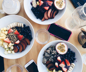 bananas, smoothie bowl, and breakfast image