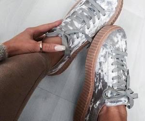 shoes, puma, and nails image