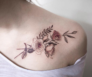 tattoo and flowers image