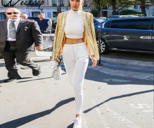 fashion, outfit, and total white image