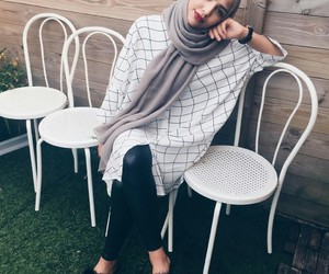 hijab, fashion, and model image
