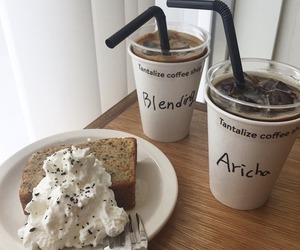 bread, coffee, and cute image