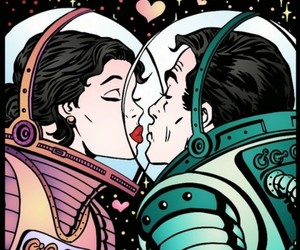 space, love, and astronaut image