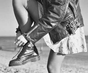 black and white, doc martens, and dr martens image
