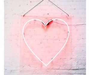 heart, neon, and love image