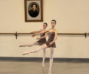ballerina, ballet, and class image