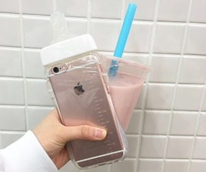 food, milky, and pastel image