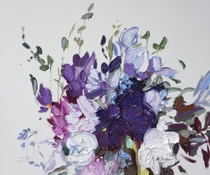 flower, purple, and white image