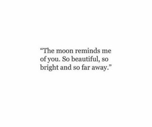quotes, moon, and sad image