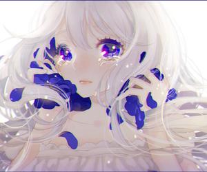 anime, cry, and anime girl image