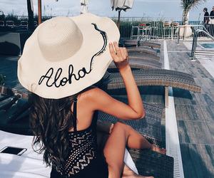 Aloha, fashion, and beach image