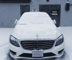 car, snow, and mercedes-benz image