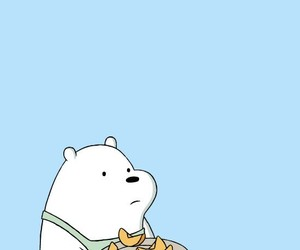 we bare bears, blue, and wallpaper image