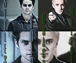 draco malfoy, harry potter, and teen wolf image