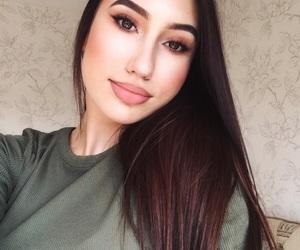 beautiful, brown, and girl image