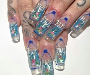 nails, fiji, and tattoo image