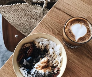 bowl, breakfast, and coffee image