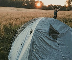 beutiful, camping, and field image