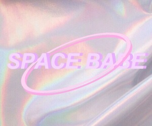 aesthetic, holographic, and pink image