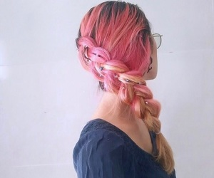 accessories, hair styles, and hot pink image