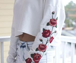 fashion, outfit, and rose image
