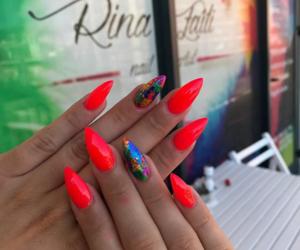girls, nailpolish, and nails image