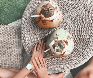 bali, summer, and coconut image