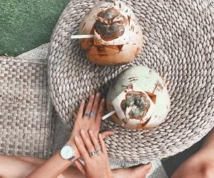bali, coconut, and coconuts image