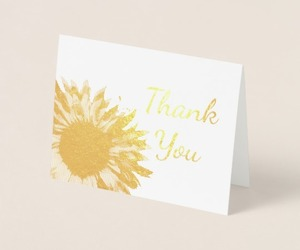 sunflowers, sunflowers wedding, and thank you notes image
