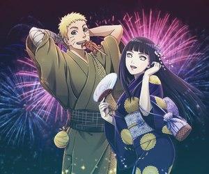 anime, firework, and hinata image