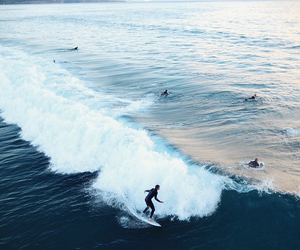 beach, sport, and wave image