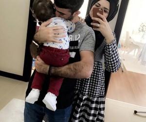 family, hijab, and romance image