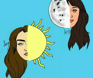 drawing, lolo, and moon image