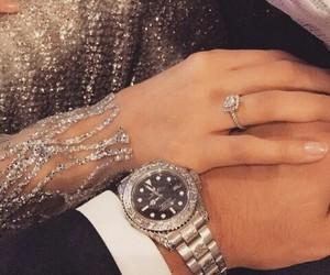 hand, romance, and muslim couple image