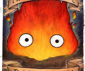 howl's moving castle and calcifer image