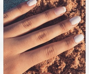 beach, nails, and fashion image