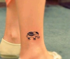tattoo, elephant, and small image