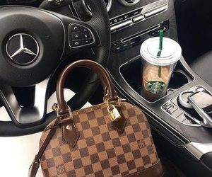 car, Louis Vuitton, and starbucks image