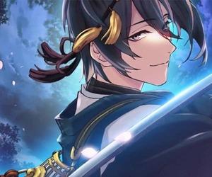 anime, sword, and sanjou family image