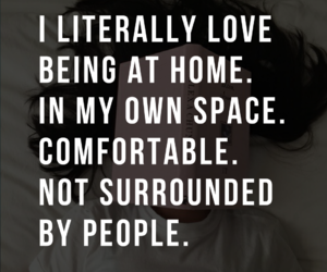 comfortable, home, and introvert image