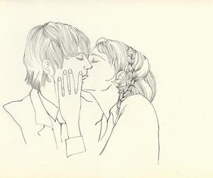 kiss, love, and draw image
