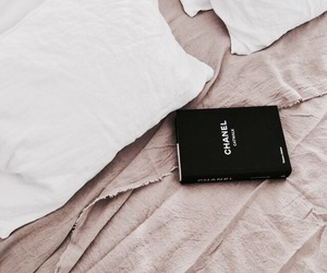 book, chanel, and bed image