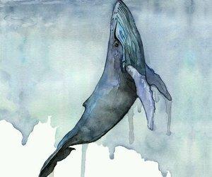 art, watercolor, and sea image