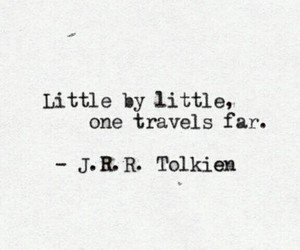 quotes, travel, and tolkien image