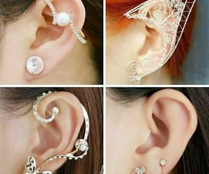 beauty, earrings, and brilliant image