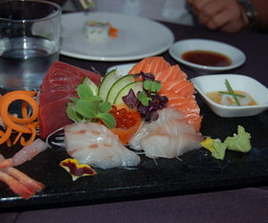 delicious, fish, and sushi image