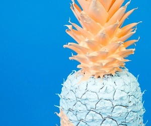 blue, cute, and pineapple image